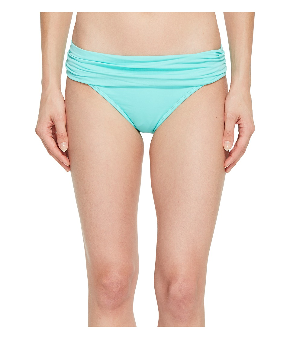 La Blanca - Island Goddess Shirred Waist Hipster Bottom (Seafoam) Womens Swimwear