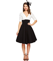 Unique Vintage - Color Block Delores Swing Dress