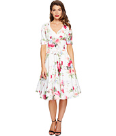 Unique Vintage - 1/2 Sleeve Delores Swing Dress