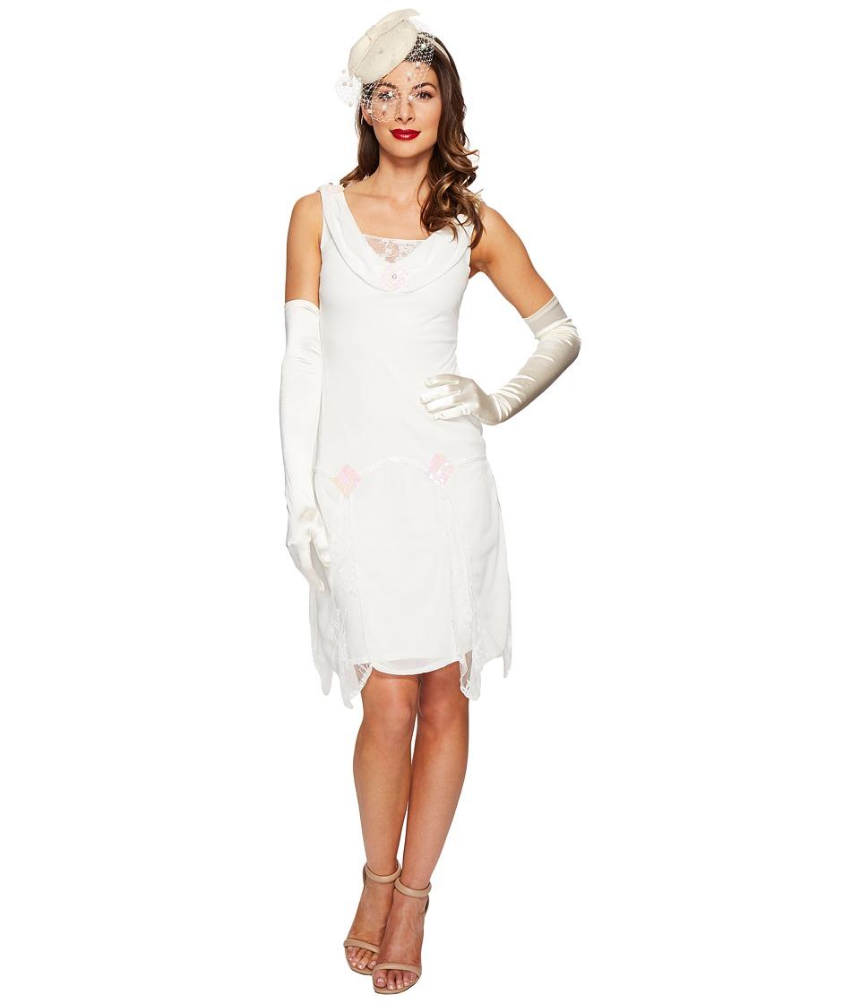 Unique Vintage Hemingway Flapper Dress (White) Women