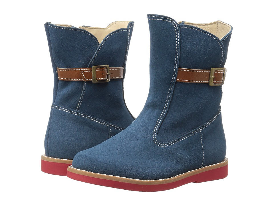Elephantito - Buckle Boot (Toddler/Little Kid/Big Kid) (Blue) Girls Shoes