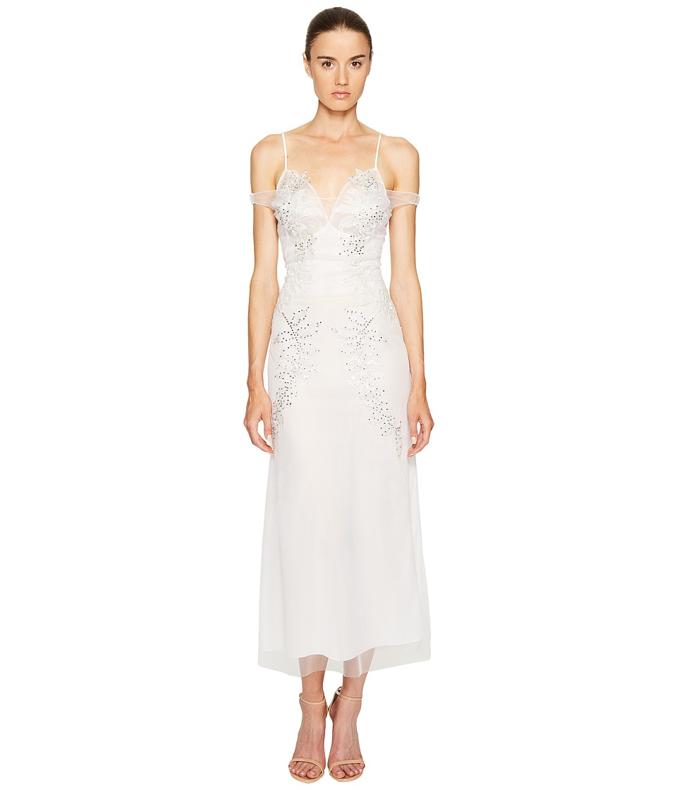 Francesco Scognamiglio - Embellished Cold Shoulder Short Sleeve Dress