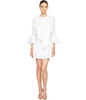 Francesco Scognamiglio - Long Sleeve Ruffle Front Dress