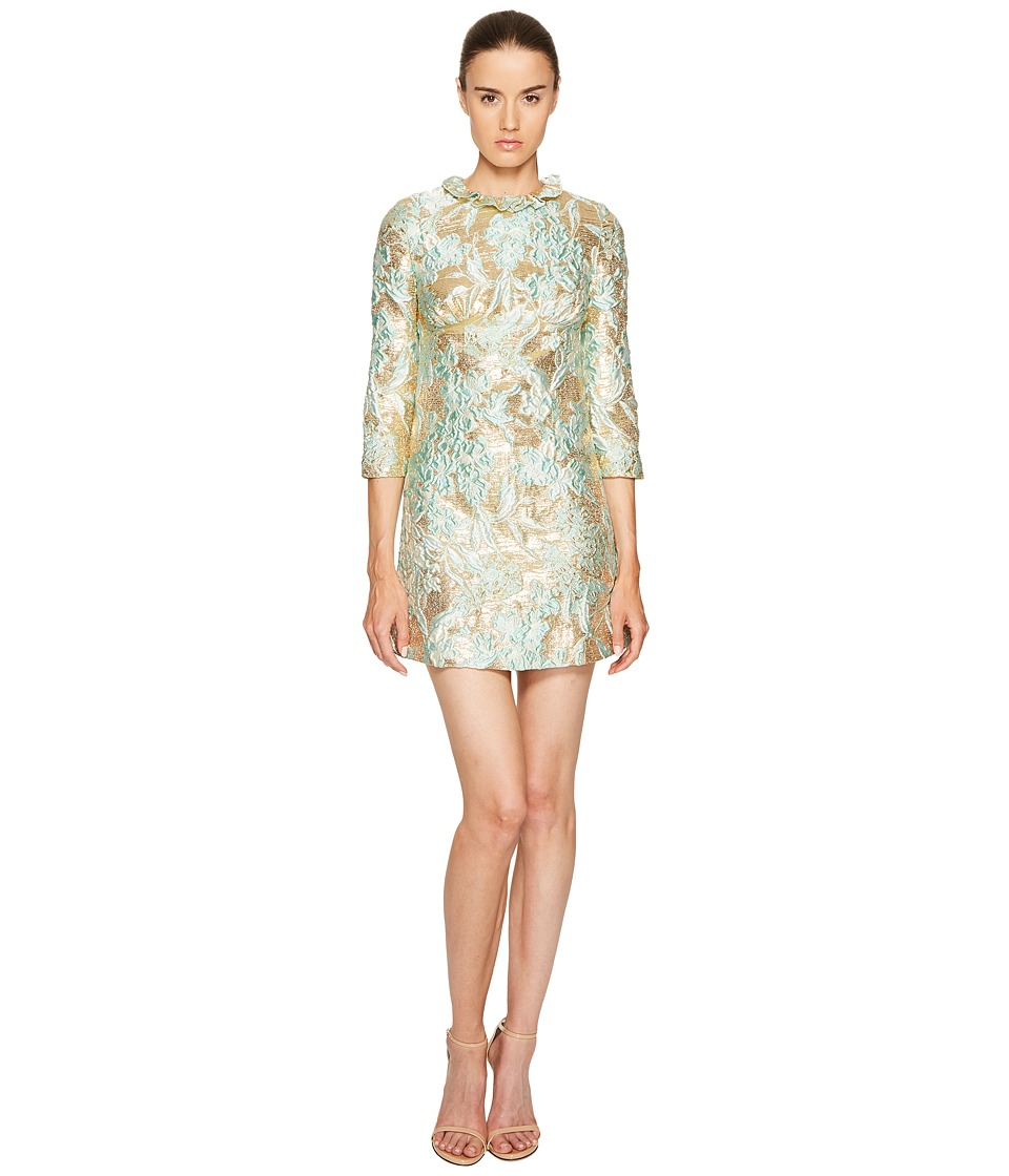 Francesco Scognamiglio - Long Sleeve Round Neck Jacquard Dress