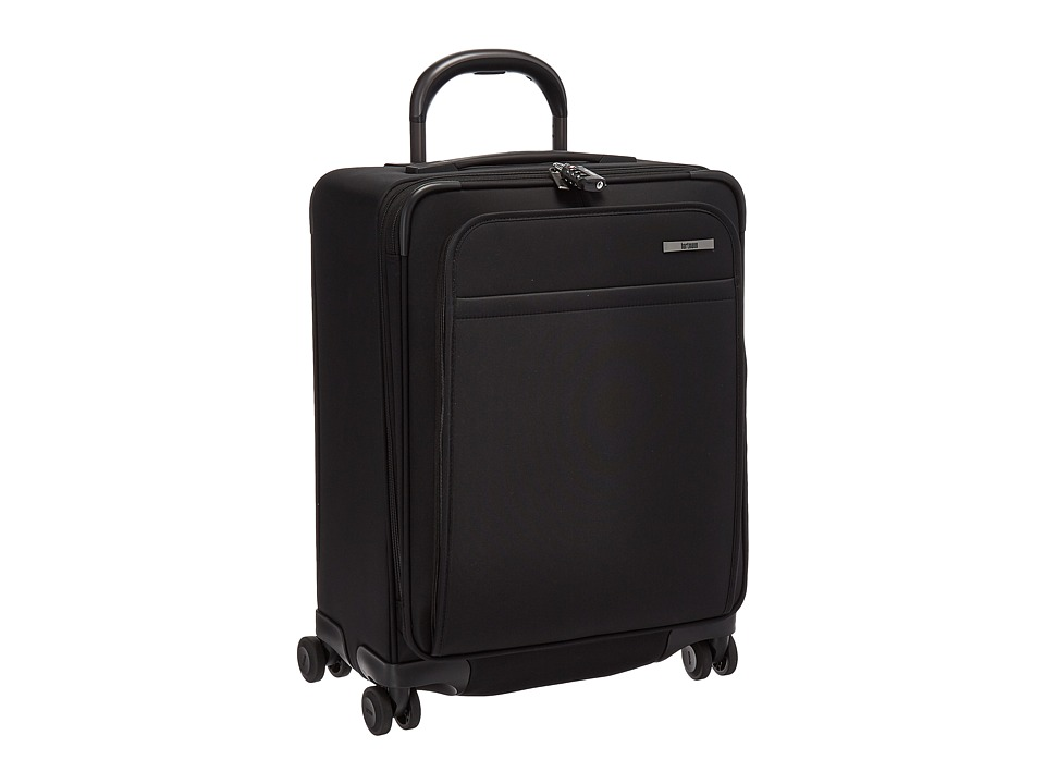 Hartmann Metropolitan Domestic Carry On Expandable Spinner (Deep Black) Carry on Luggage