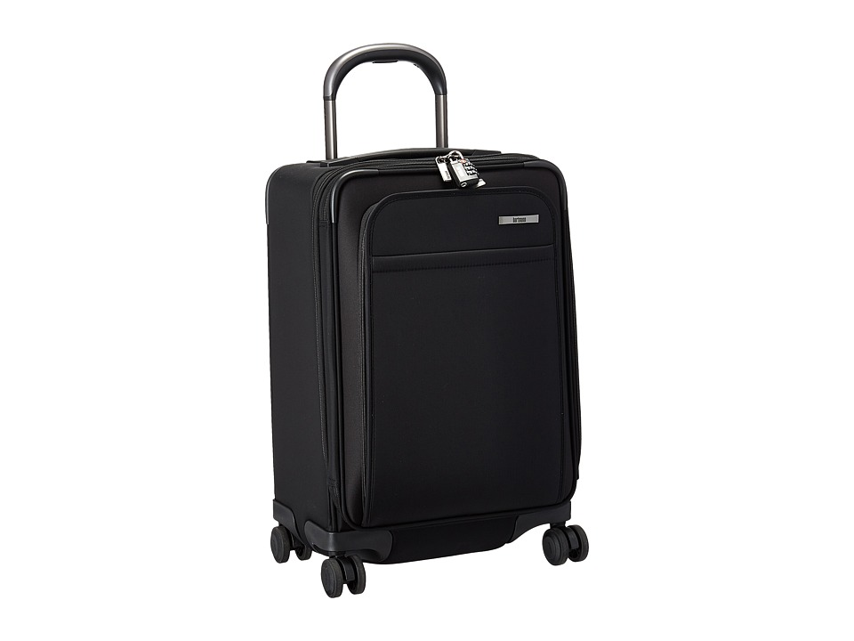 Hartmann Metropolitan Global Carry On Expandable Spinner (Deep Black) Carry on Luggage