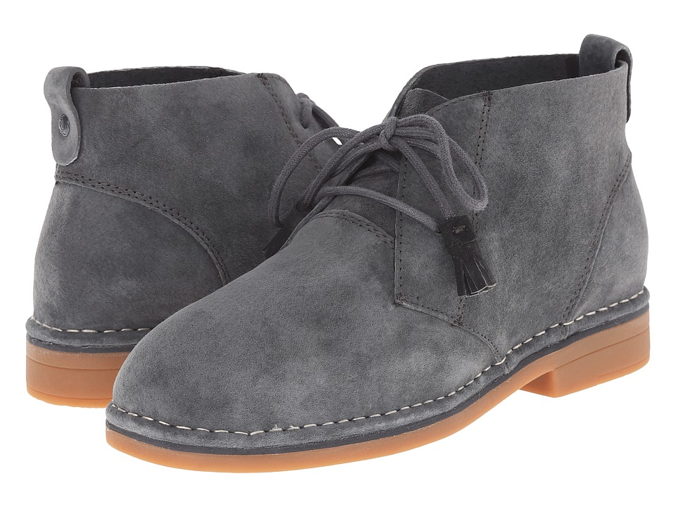Hush Puppies Cyra Catelyn (Dark Grey Suede) Women's Lace-up Boots