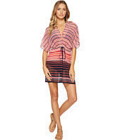 MICHAEL Michael Kors - Abby Stripe V-Neck Caftan Cover-Up