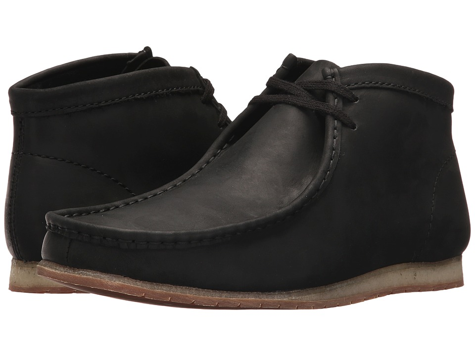 Clarks Wallabee Step Boot (Black Leather) Men