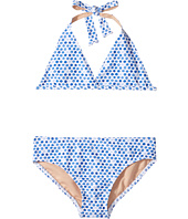 Toobydoo - Blue Watercolor Dot Bikini (Infant/Toddler/Little Kids/Big Kids)