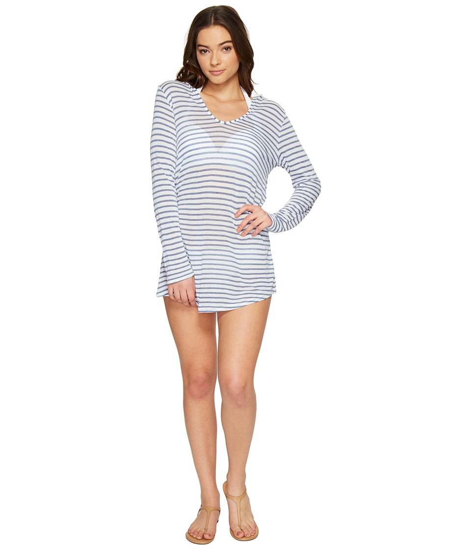 Splendid Chambray All Day Hoodie Tunic Cover-Up (Chambray) Women