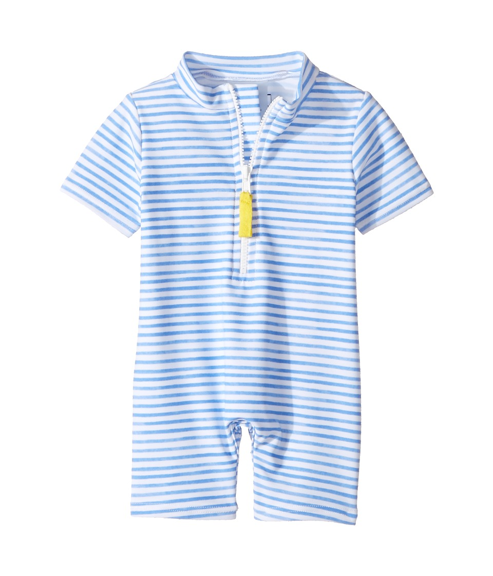 Toobydoo - Blue Watercolor Sunsuit (Infant/Toddler) (Blue/White) Girls Swimsuits One Piece