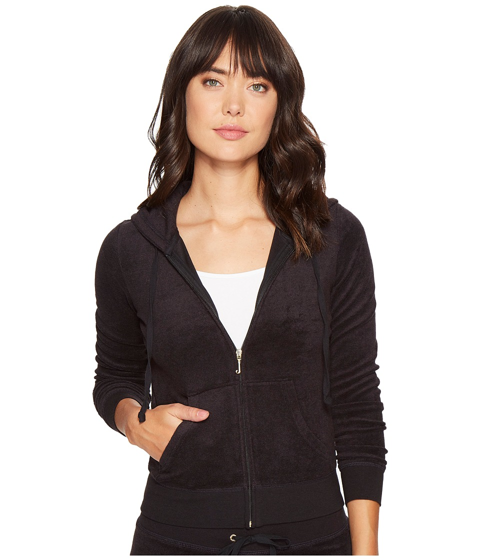 Juicy Couture - Robertson Microterry Jacket (Pitch Black) Womens Coat
