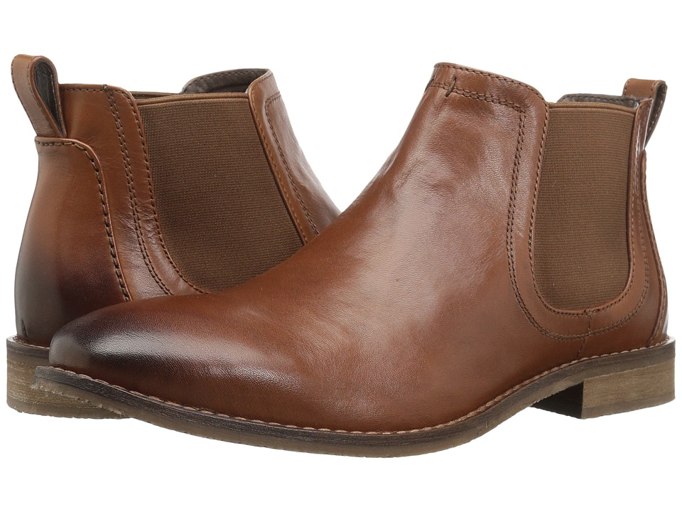 Nunn Bush - Hartley Double Gore Boot (Cognac) Mens Dress Pull-on Boots