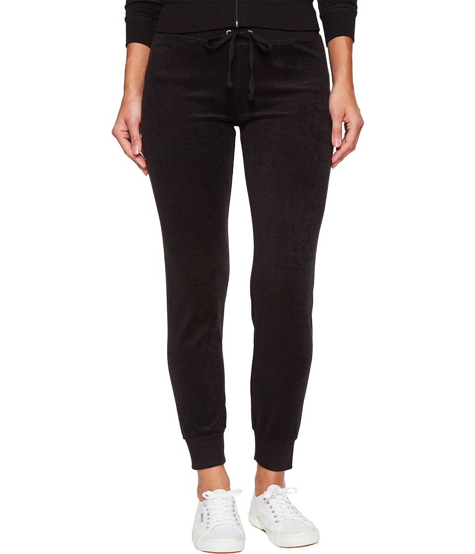 Juicy Couture - Zuma Microterry Pants (Pitch Black) Womens Casual Pants