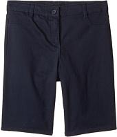 Nautica Kids - Girls Plus Five-Pocket Sateen Bermuda Shorts (Big Kids)