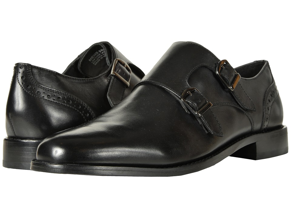Nunn Bush - Norway Plain Toe Double Monk Dress Casual Slip-On (Black) Mens Plain Toe Shoes
