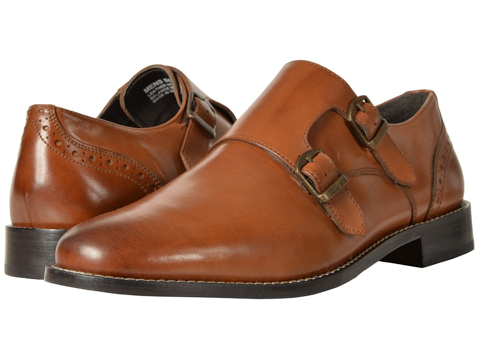 Nunn Bush Norway Plain Toe Double Monk (Cognac) Men