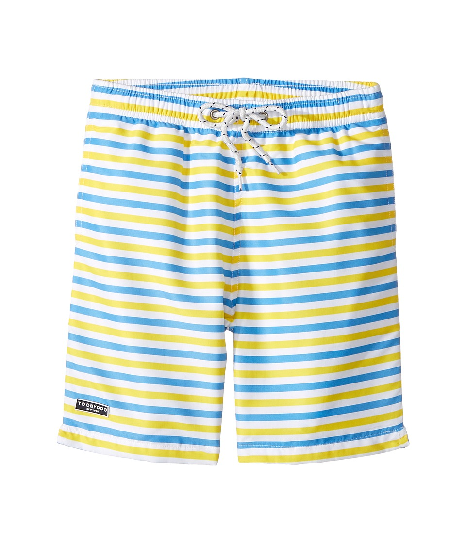 Toobydoo - Blue Yellow Stripe Swimsuit