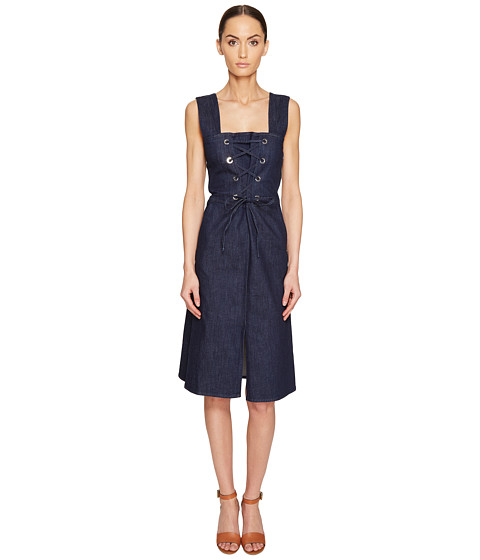 See by Chloe Denim Lace-Up Dress