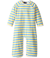 Toobydoo - Blue & Yellow Stripe Long Sleeve Cotton Spandex Jumpsuit (Infant/Toddler)