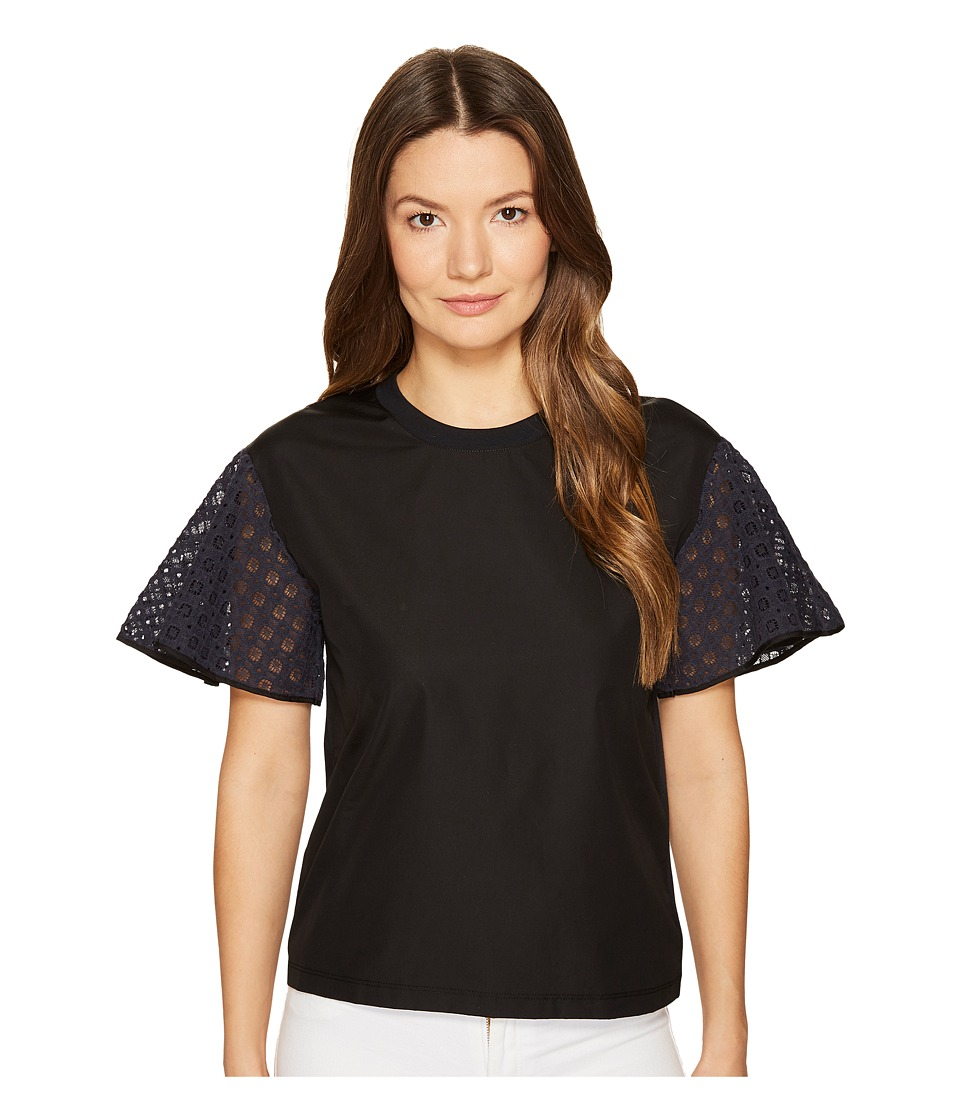 See by Chloe - Cotton Embroidered Sleeve T