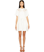 See by Chloe - Cotton Short Sleeve Flower Drawstring Dress