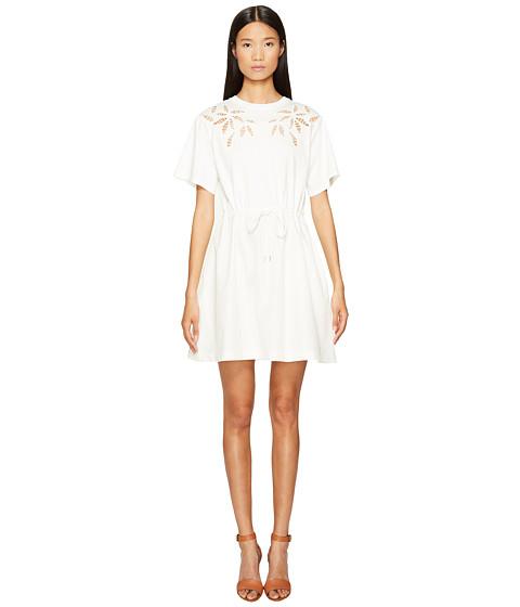 See by Chloe Cotton Short Sleeve Flower Drawstring Dress