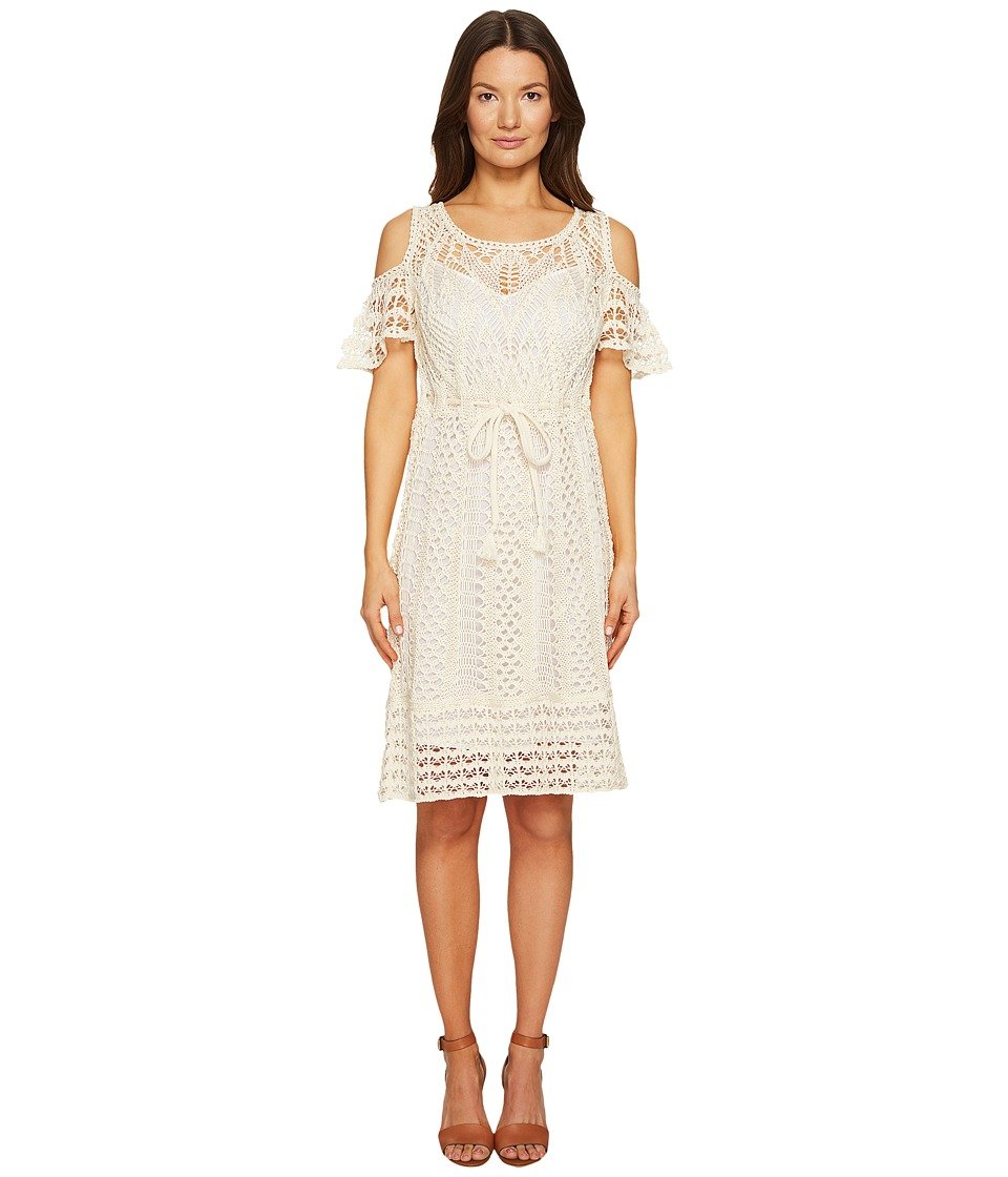 See by Chloe Crochet Drawstring Dress (Natural White) Women