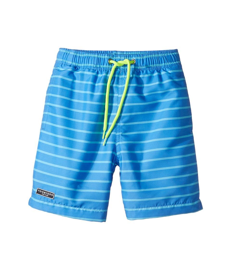 Toobydoo - Aqua Blue Pinstripe Swimsuit