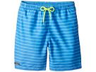 Toobydoo - Aqua Blue Pinstripe Swimsuit - Short (Infant/Toddler/Little Kids/Big Kids)