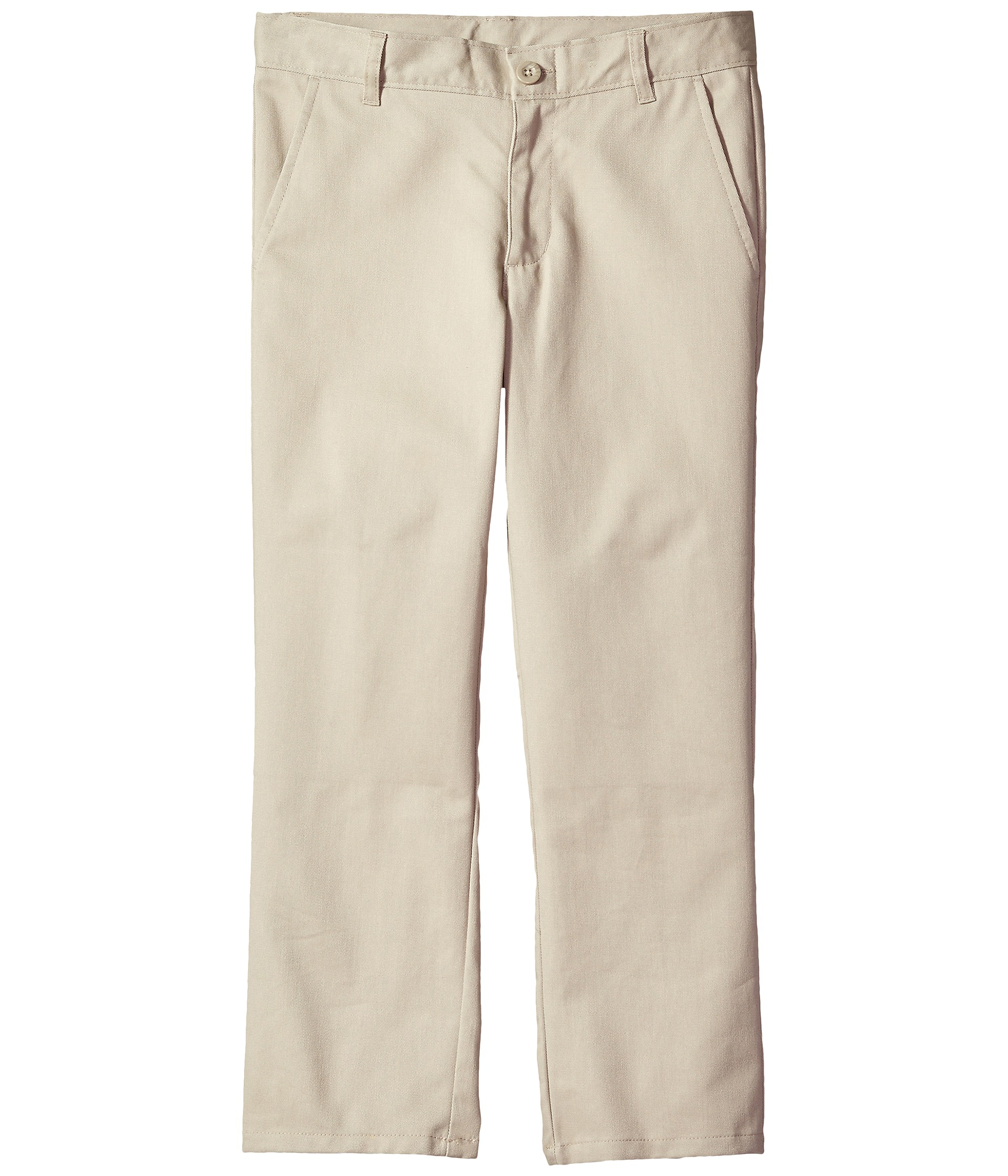 Product Features Traditional-fit pant featuring side seam pockets and welted back pockets.