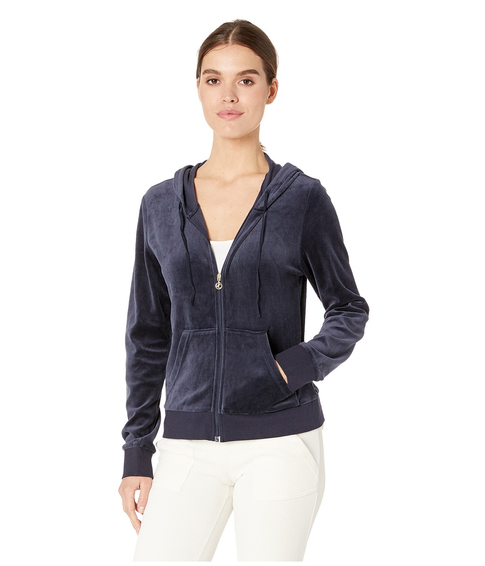 Juicy Couture Robertson Velour Jacket (Regal) Women's Coat