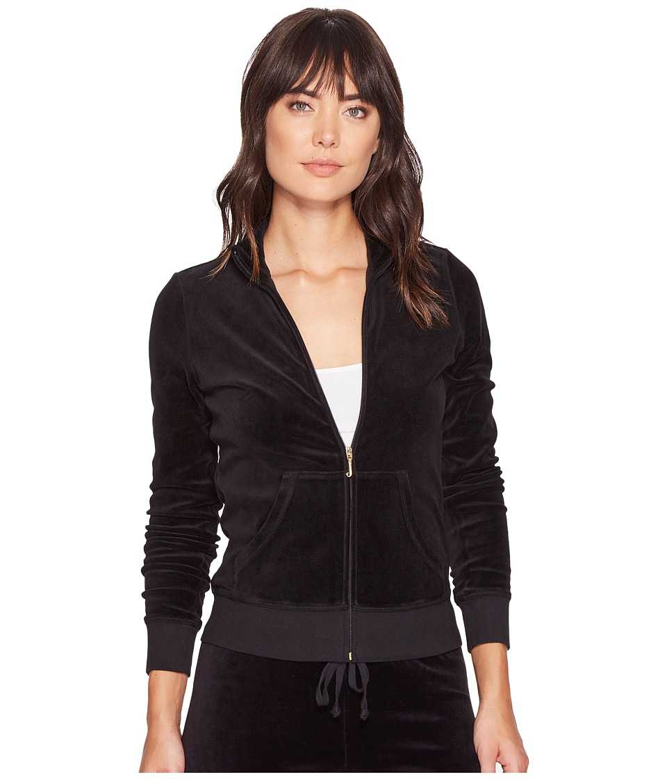 Juicy Couture - Fairfax Velour Jacket (Pitch Black) Womens Coat