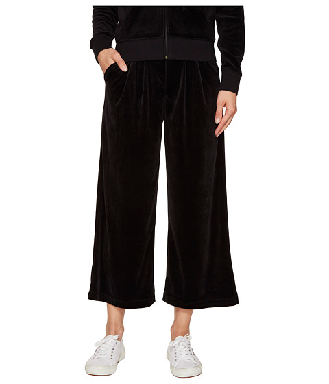Juicy Couture Lightweight Velour Cropped Wide Leg Trousers