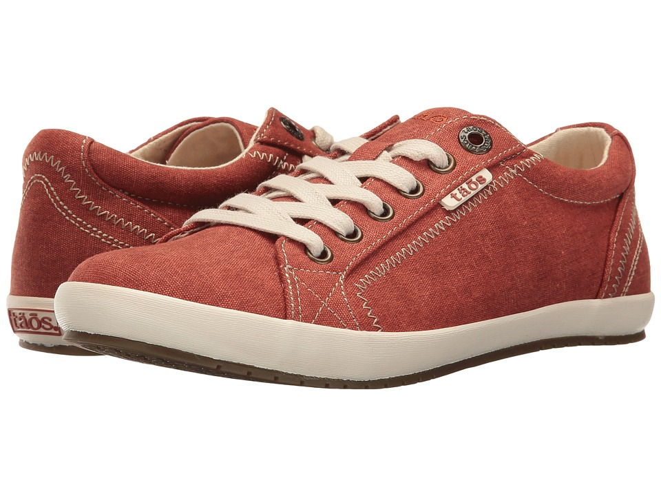 Taos Footwear Star (Burnt Orange Washed Canvas) Women