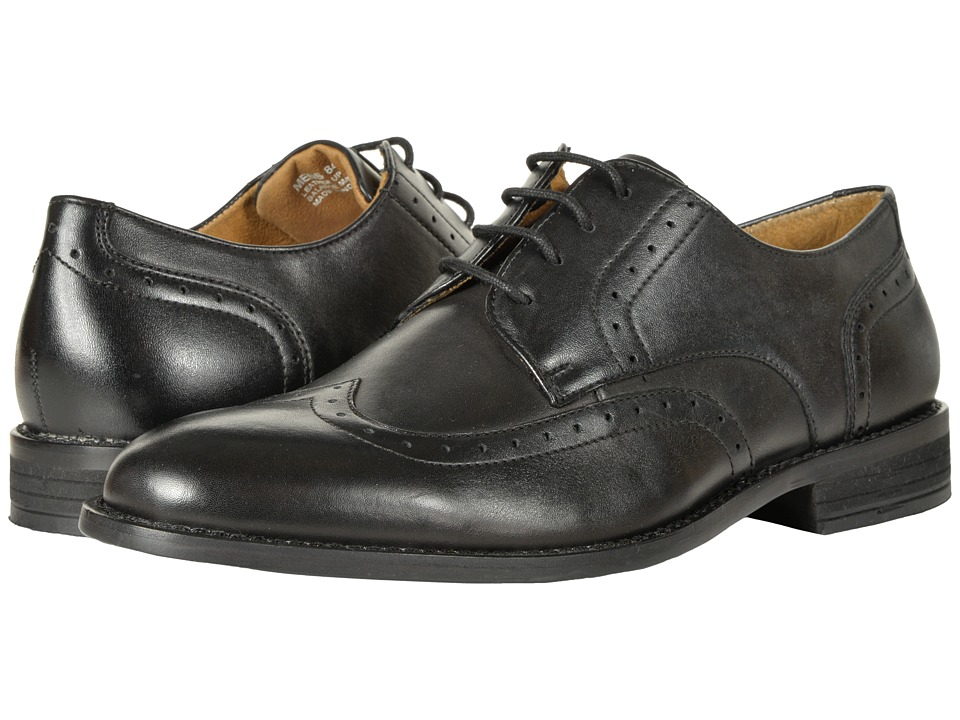 Nunn Bush - Slate Wing Tip Dress Casual Oxford (Black) Mens Lace Up Wing Tip Shoes