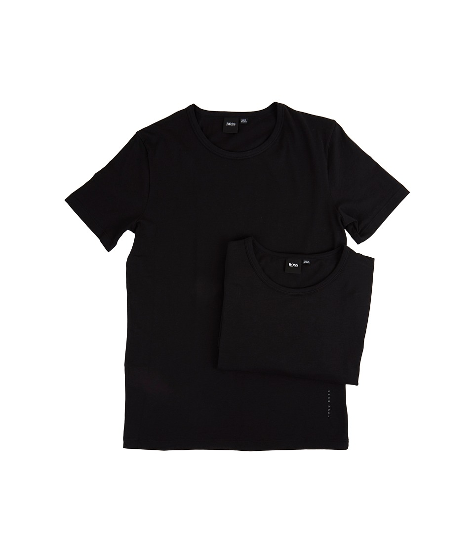 BOSS Hugo Boss T-Shirt Round Neck 2-Pack CO/EL 10194356 01 (Black) Men