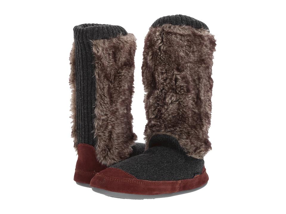 Acorn Slouch Boot (Charcoal Fur) Women