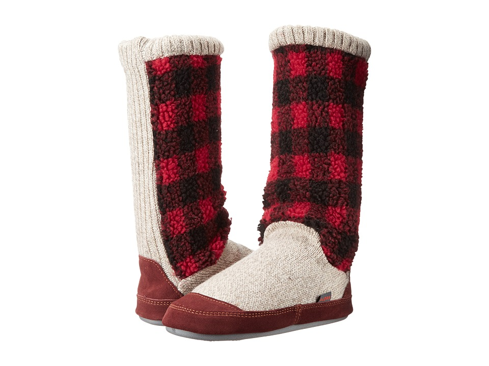 Acorn Slouch Boot (Buffalo Check) Women