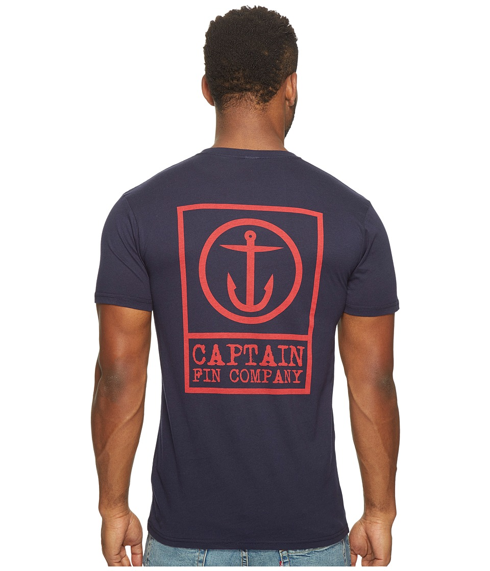 Captain Fin Boxed Out II T-Shirt (Navy) Men