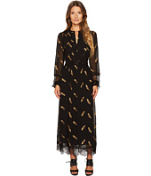 The Kooples - Long Long Sleeve Dress with Lace Stripe Details