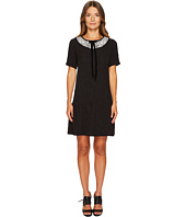 The Kooples - Short Sleeve Dress with Rear Zip and Frilled Hem