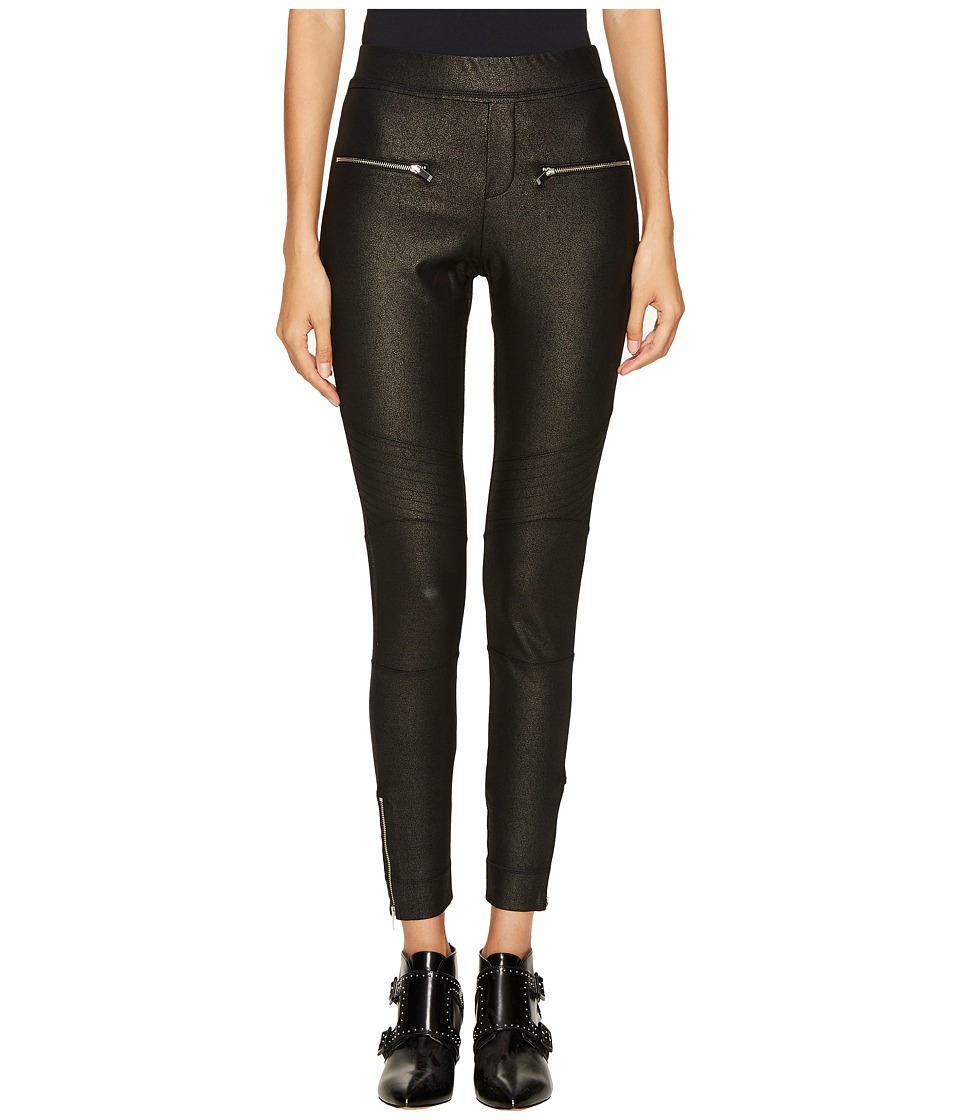 The Kooples - Biker Wax Trousers (Black) Womens Casual Pants