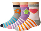 Jefferies Socks - Pink/Purple/Grey Crew 3-Pack (Toddler/Little Kid/Big Kid)