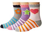 Jefferies Socks Pink/Purple/Grey Crew 3-Pack (Toddler/Little Kid/Big Kid)