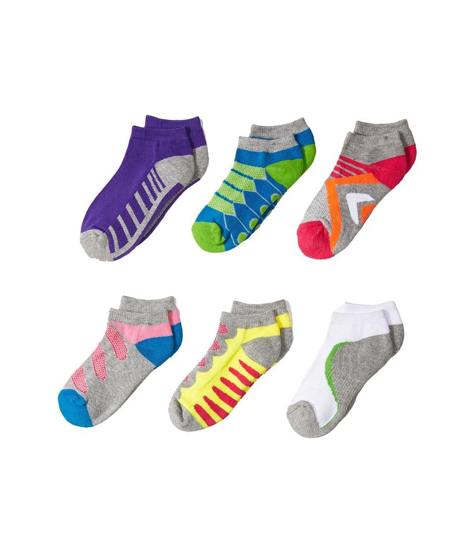 Jefferies Socks - Tech Sport Low Cut 6-Pack (Toddler/Little Kid/Big Kid) (Multi) Girls Shoes