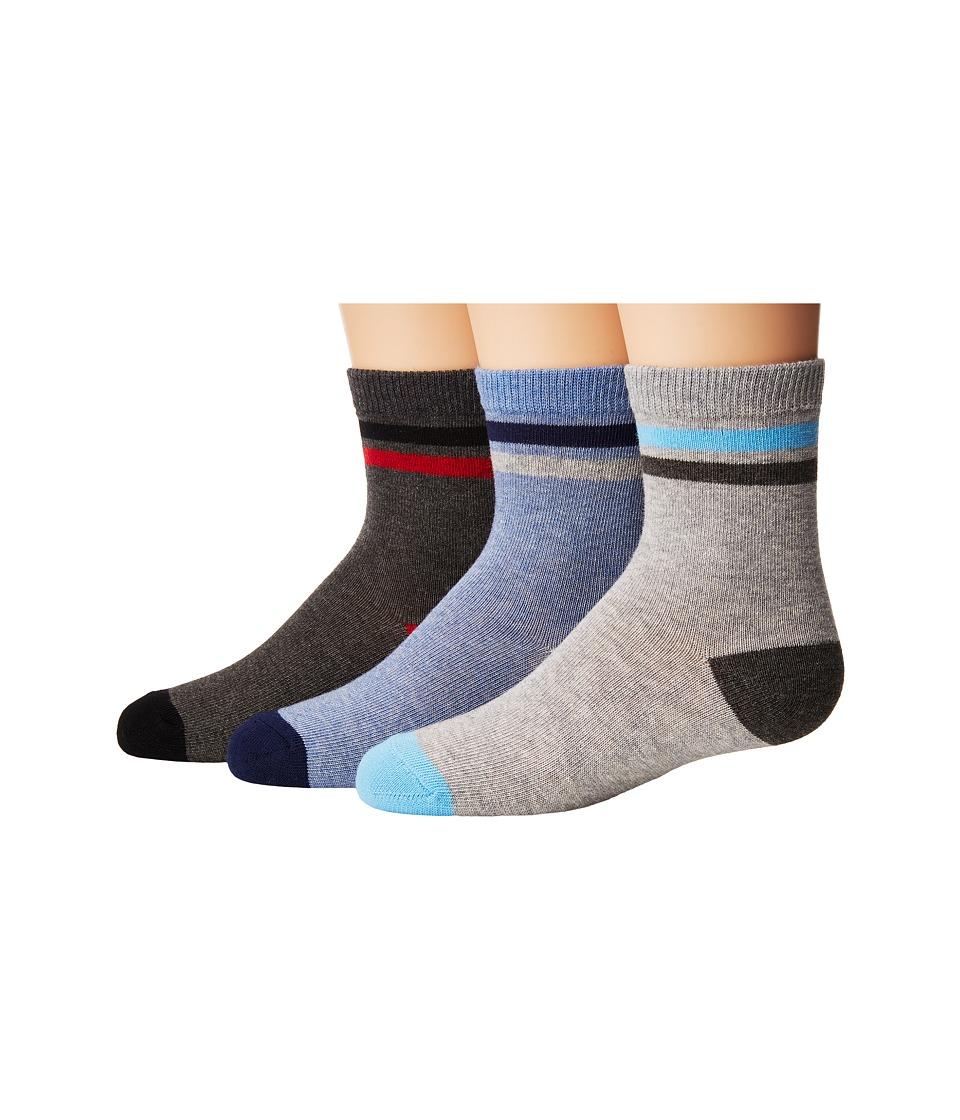Jefferies Socks Heathers Stripe Crew 3-Pack (Toddler/Little Kid/Big Kid) (Multi) Boys Shoes