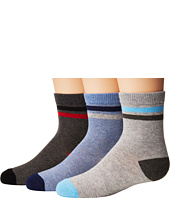Jefferies Socks - Heathers Stripe Crew 3-Pack (Toddler/Little Kid/Big Kid)