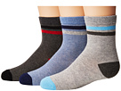 Jefferies Socks Heathers Stripe Crew 3-Pack (Toddler/Little Kid/Big Kid)